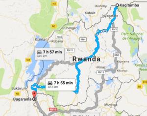 Driving through Rwanda