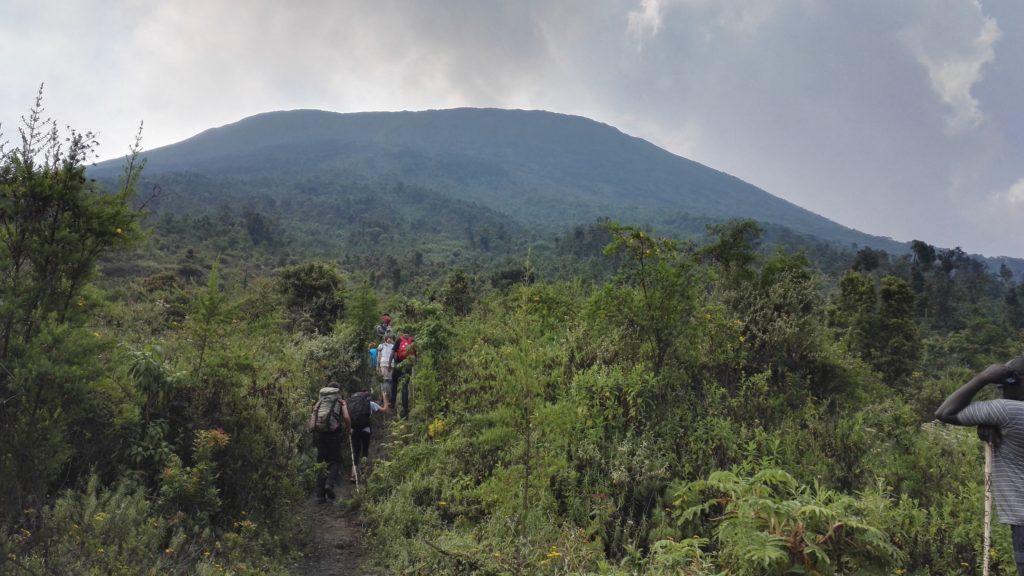 Mt Nyiragongo ascent