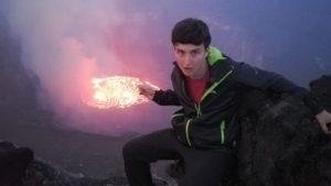Next to Nyiragongo volcano