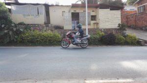 Moto driving in Kigali Rwanda