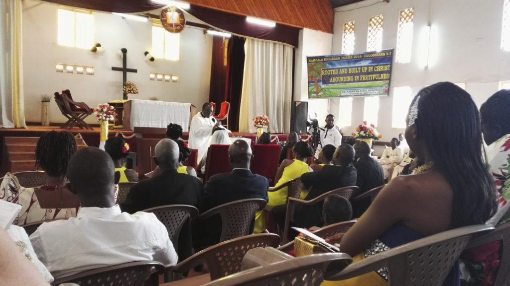 Reverend at Uganda wedding