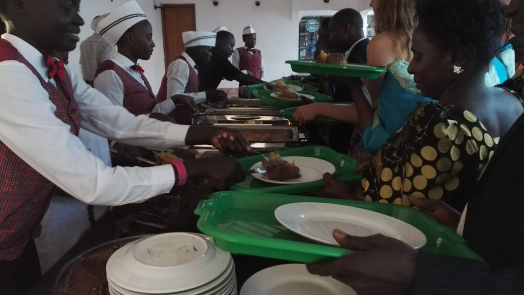 Traditional Ugandan wedding food