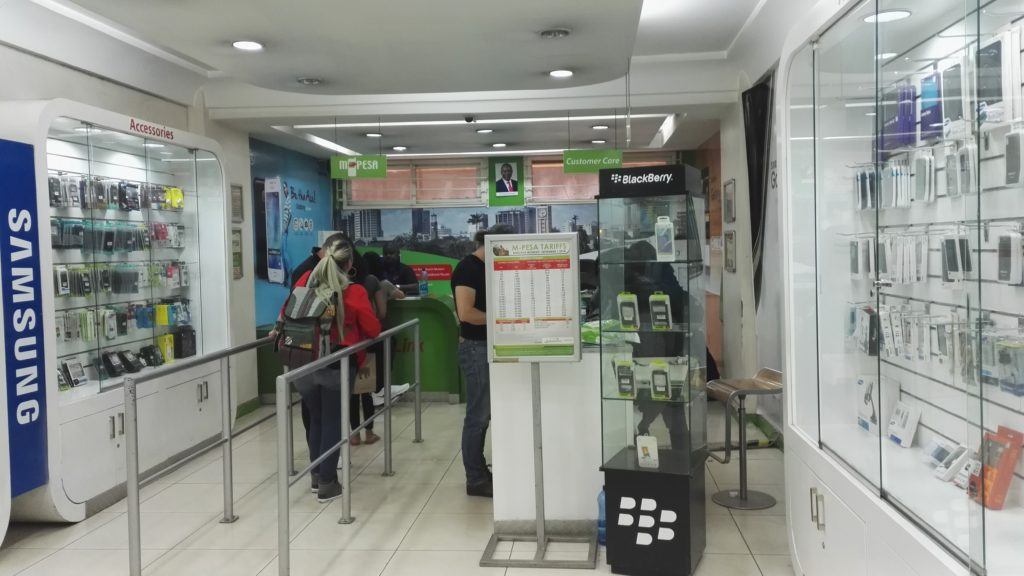 Queue at an M-Pesa agent