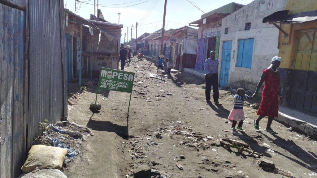 M-Pesa sign in rural Kenya