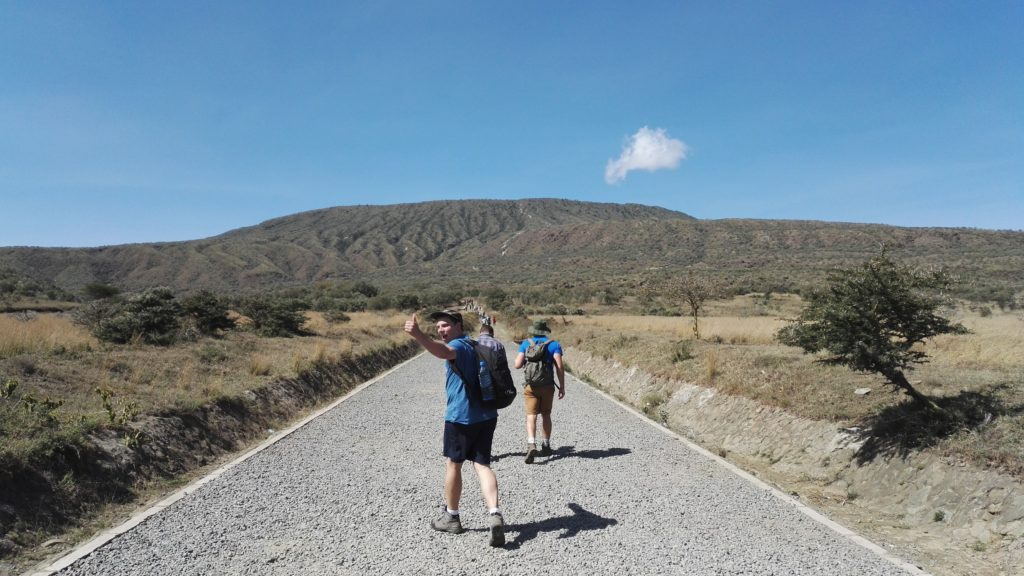 Setting off to climb Mount Longonot