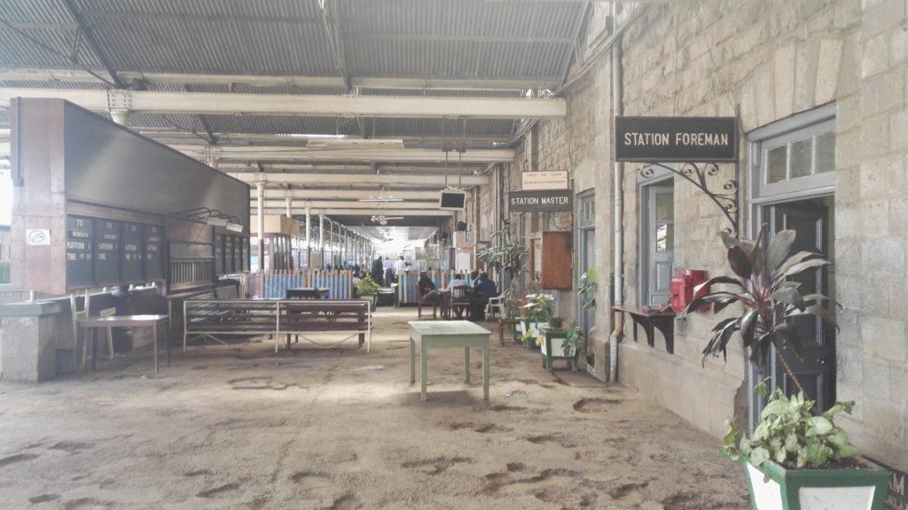Nairobi Railway Station platform