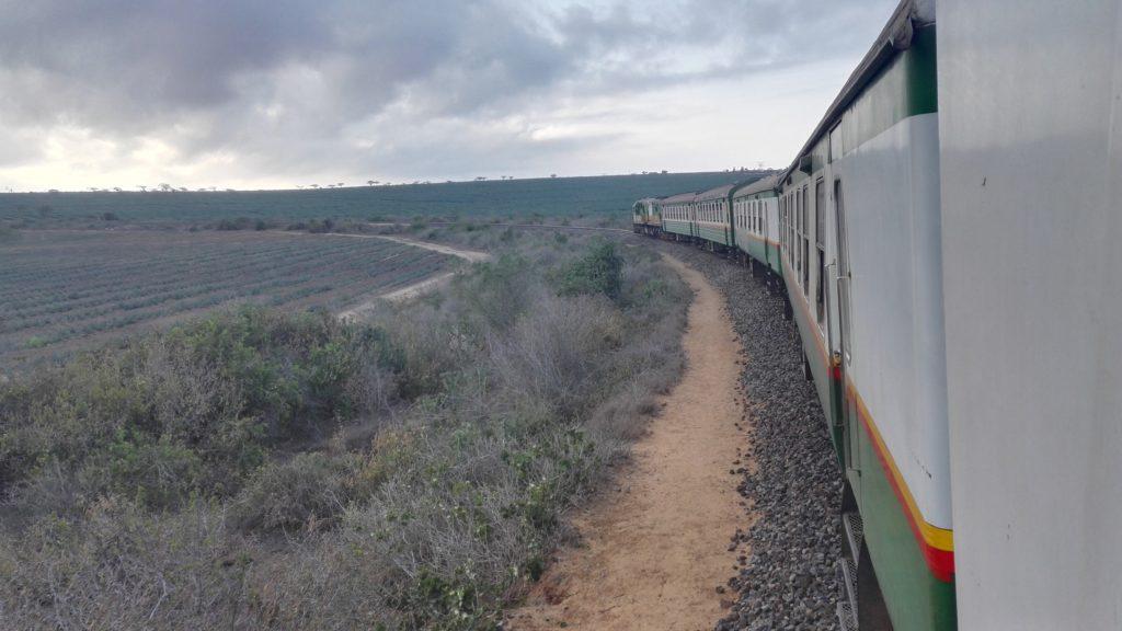 Window view on the Nairobi-Mombasa train