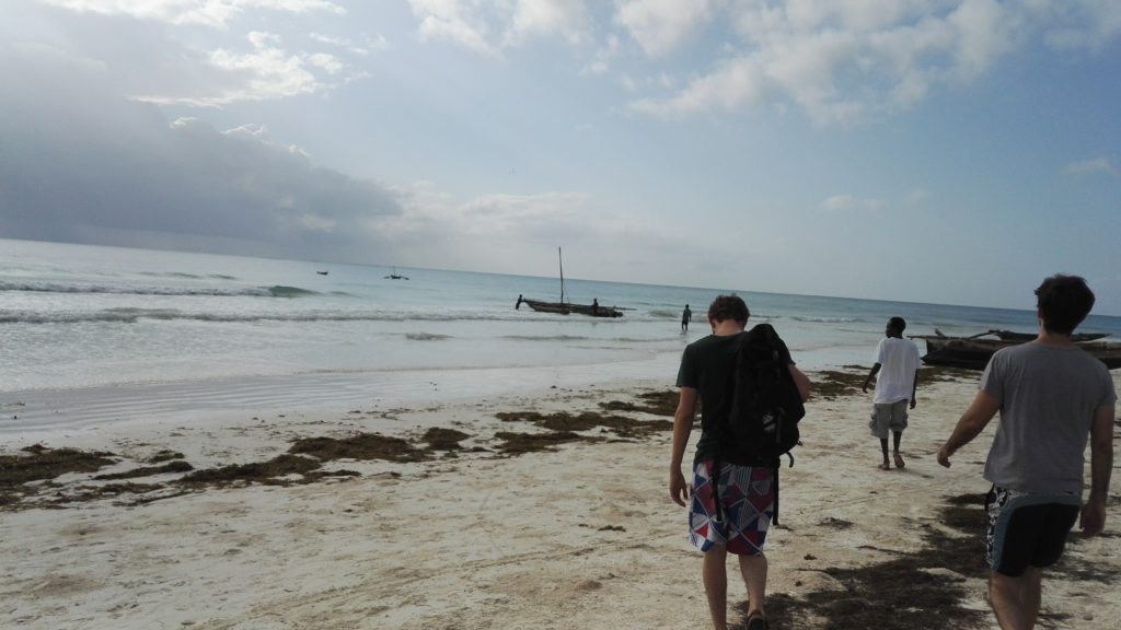 Going fishing on traditional boat in Diani